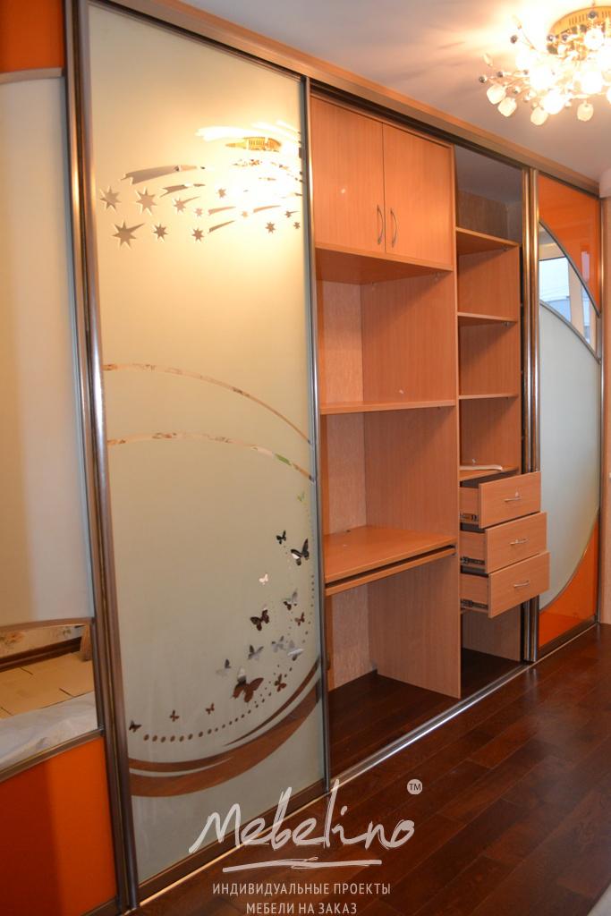 Встроенный шкаф-купе d239 / встроенные шкафы купе на заказ.