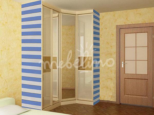 Стеклянный шкаф красивый дизайн по индивидуальным размерам к.