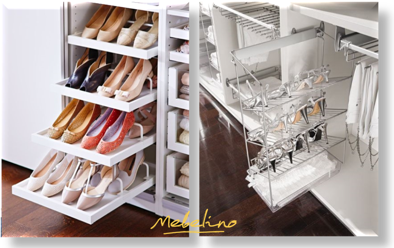 Распашной шкаф с обувницей