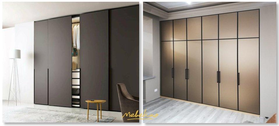 Гладкие матовые фасады для встроенных шкафов