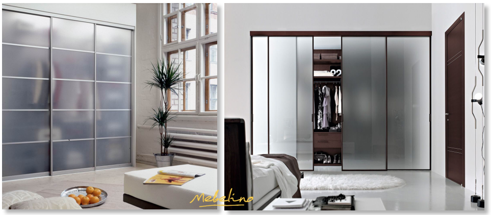 Встроенные шкафы со стеклянным фасадом