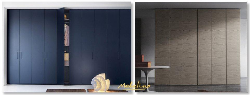 Стильные фасады встроенных шкафов (ЛДСП, МДФ, ДСП, шпон)
